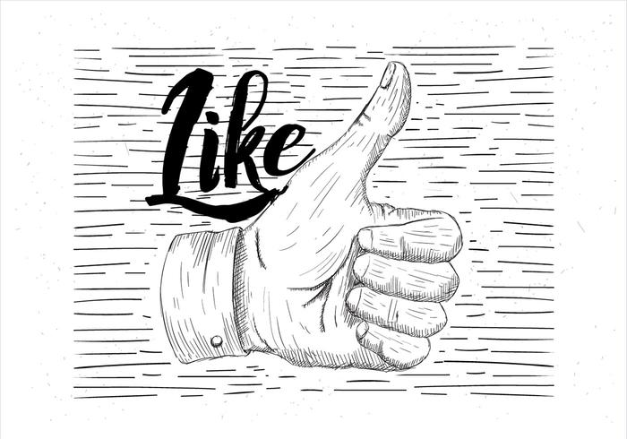 700x490 Hand Drawn Vector Thumbs Up Illustration