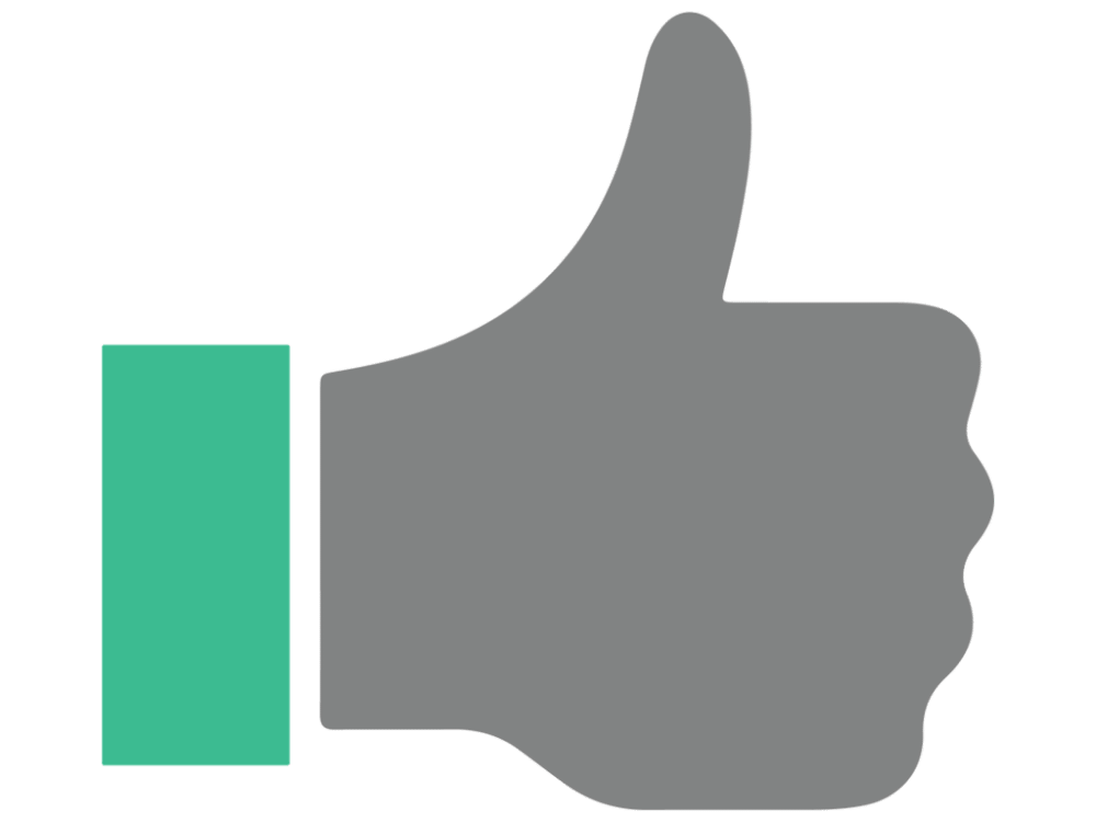 1000x750 Thumbs Up Vector Icon Free Vector Icons Icons