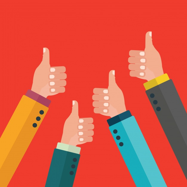 626x626 Thumbs Up Background Design Vector Free Download