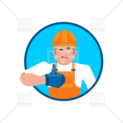 400x400 Builder Thumbs Up Vector Image Vector Artwork Of People
