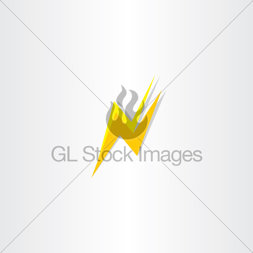 500x500 Thunder Flash Letter N Icon Logo Vector Gl Stock Images