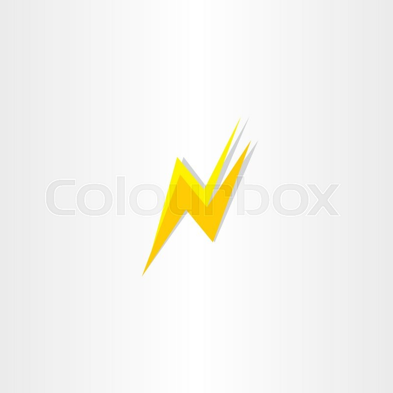 800x800 Thunder Flash Letter N Icon Logo Vector Element Stock Vector