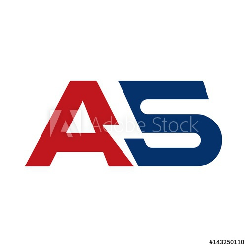 500x500 Letter Logo Vector. Bolt Logo Vector. Thunder Icon. Letter A And S
