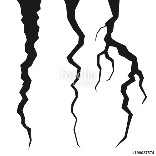 500x500 Set Of Rift Or Thunder Vector Illustration Stock Image And