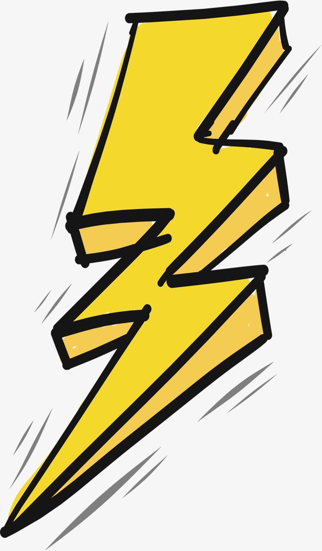 650x1113 Thunder And Lightning Effect, Vector Png, Yellow Lightning, Hand