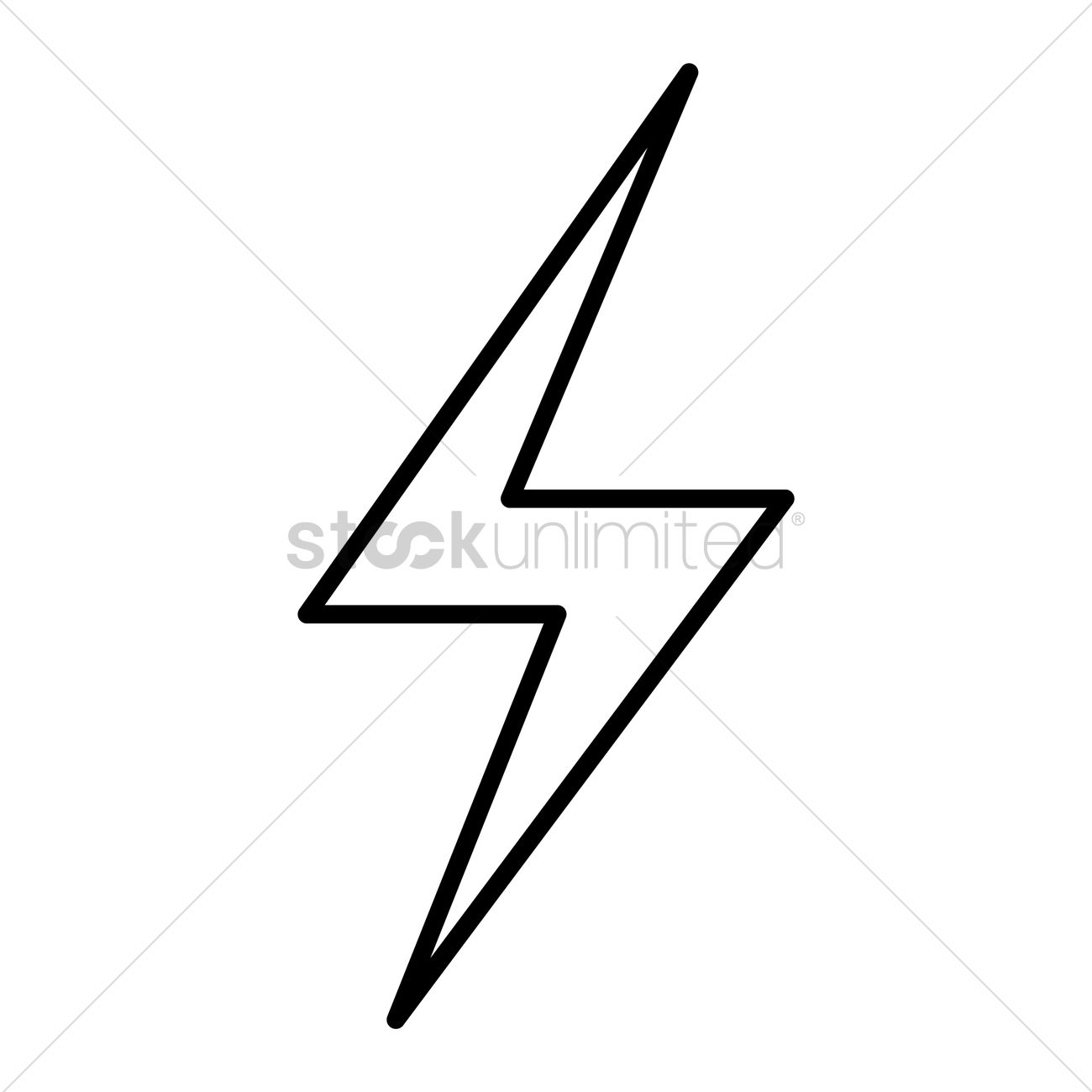 1300x1300 Thunder Vector Image