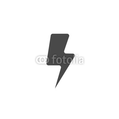 400x400 Lightning Bolt Thunder Vector Icon For Charging Electricity
