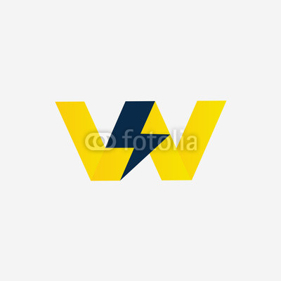 400x400 Vector Icon Of Thunder, Electric Company Vector Logo Or