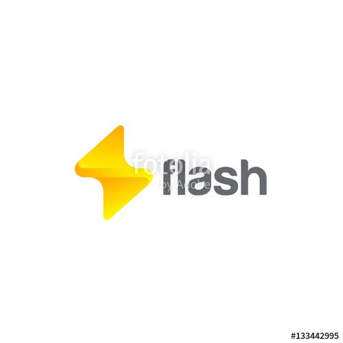500x500 Flash Logo Design Vector Thunderbolt Energy Power Electric Speed