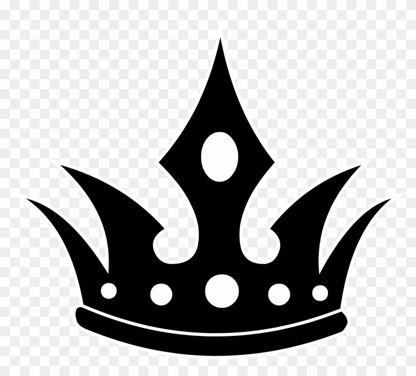 840x760 Queen Crown Clipart Black