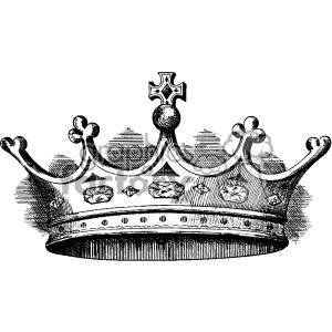 300x300 Royalty Free Vintage Small Crown Vector Vintage 1900 Vector Art Gf