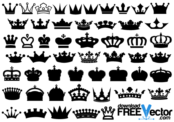 600x422 Crowns Vector Free In 2018 Free Vectors Crown