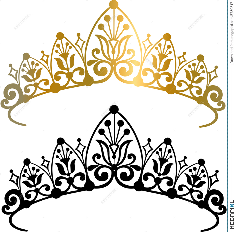 813x800 Tiara Crown Vector Illustration Illustration 5789517