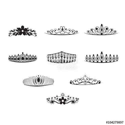 500x500 Tiara Vector Set Stock Image And Royalty Free Vector Files On