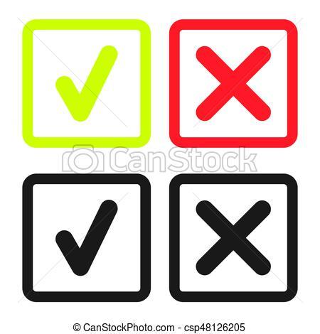 450x470 Line Green Check Mark Or Check Box Icons Set . Green Tick