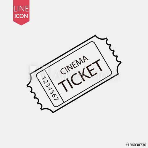 500x500 Retro Cinema Ticket Icon Vector . Vintage Movie Tickets Design