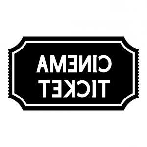 300x300 Cinema Ticket Black Silhouette Icon Vector Orangiausa