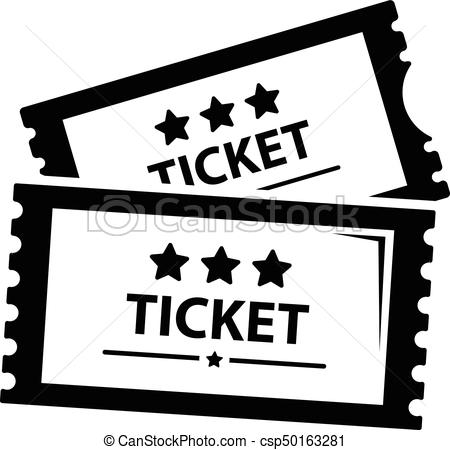 450x450 Cinema Ticket Icon, Simple Black Style. Cinema Ticket Icon. Simple