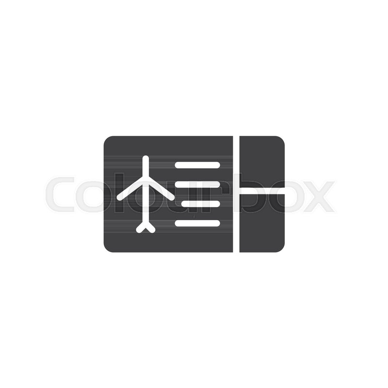 800x800 Flight Ticket Vector Icon. Filled Flat Sign For Mobile Concept And