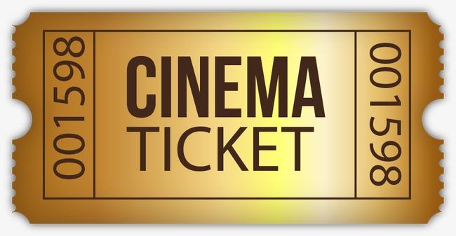 650x337 Movie Tickets Vector Material Golden, Golden, Movie Ticket, Vector