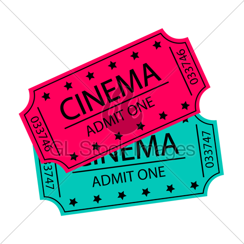 500x500 Cinema Tickets Vector Illustration Gl Stock Images