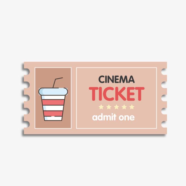 650x651 Vector Cartoon Cute Ticket Stubs, Cinema, Movie Ticket, Vector Png
