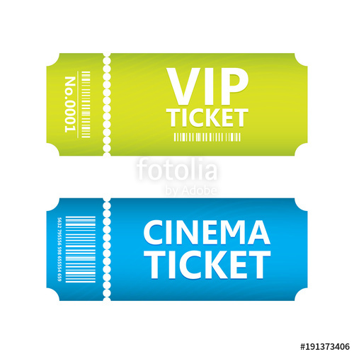 500x500 Special Movie Ticket, Vector Design, Eps10 Stock Image And