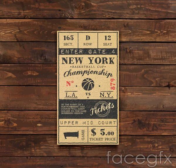 600x574 Basketball Tickets Vector Free Vectors Basketball