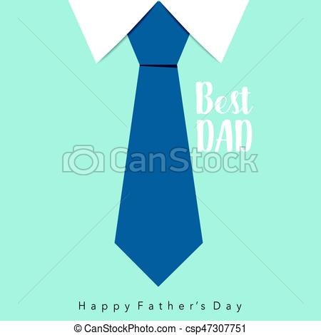 450x470 Happy Fathers Day Card Design With Big Tie. Vector... Clipart