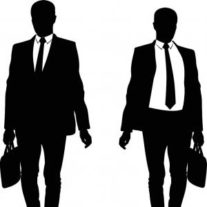 300x300 Silhouette Of A Walking Man In A Suit And Tie Vector Orangiausa