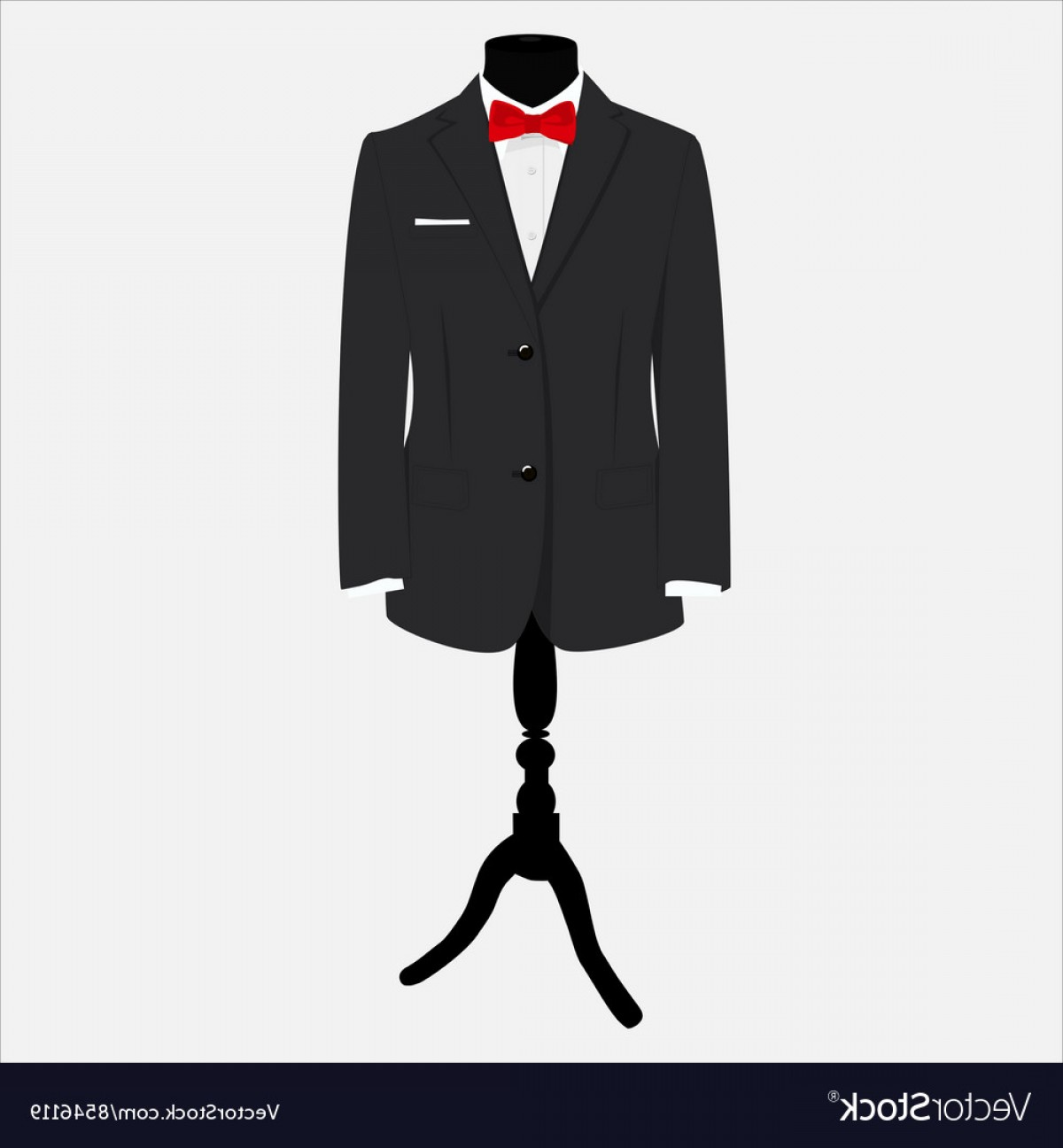1200x1296 Suit With Red Bow Tie Vector Rongholland
