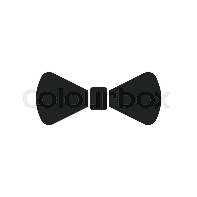 800x800 Bow Tie Flat Icon. Necktie Vector Illustration. Stock Vector