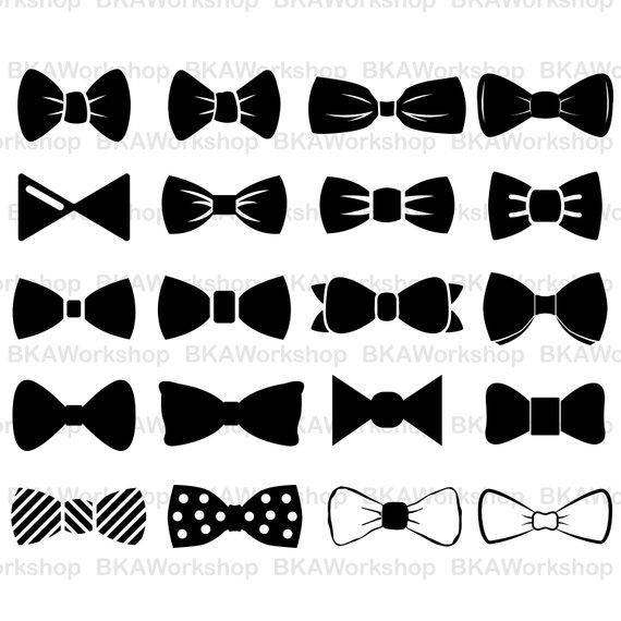 570x570 Bow Tie Svg Bow Tie Vector Bow Tie Silhouette Bow Tie Etsy