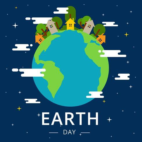 490x490 Earth Day Vector Illustration