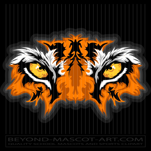 600x600 Graphic Tiger Eyes Graphic Vector Mascot Clipart