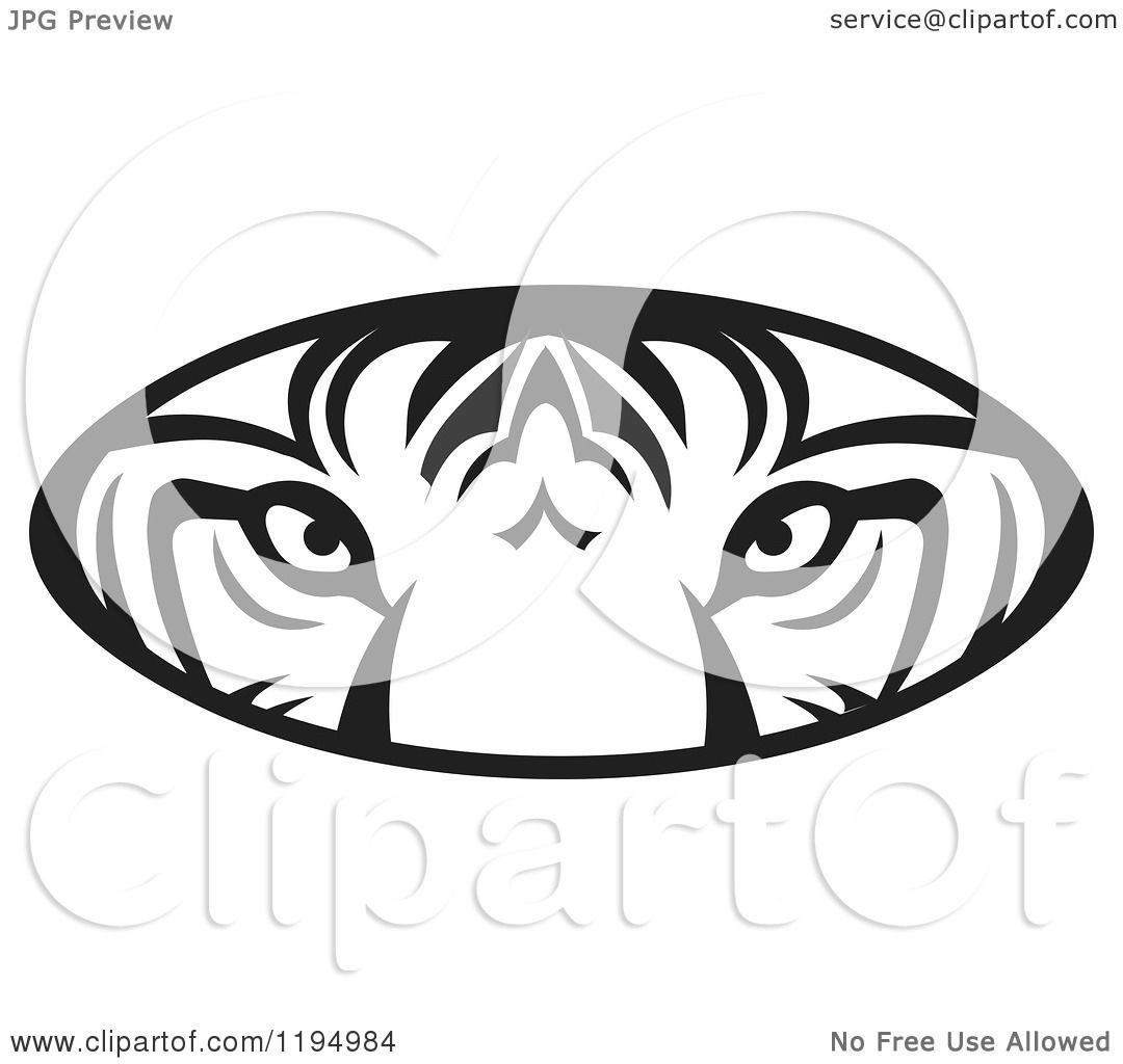 1080x1024 Tiger Eye Clipart Black And White