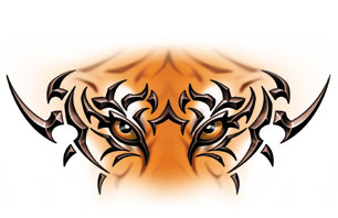 306x198 Tiger Eyes Clipart