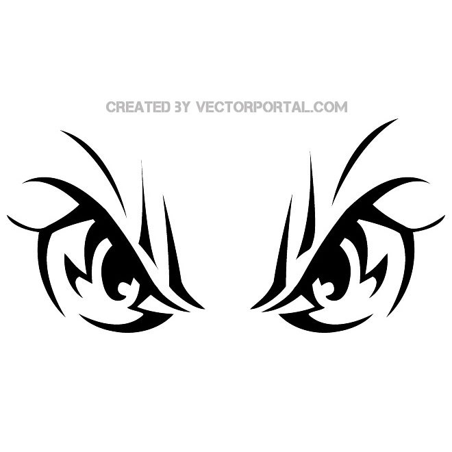 660x660 Angry Eyes Image Free Vector 123freevectors