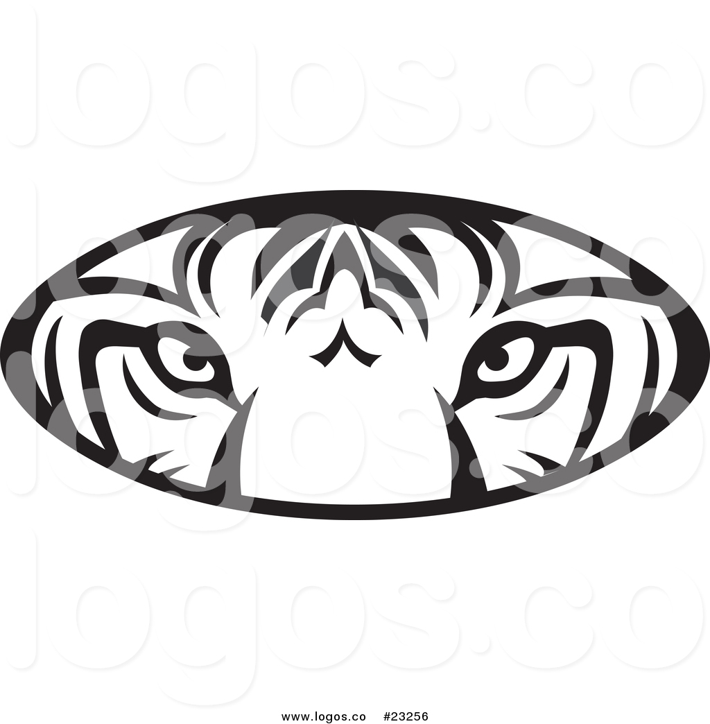 1024x1044 Vector Logo Of A Black And White Tiger Eyes Oval By Johnny Sajem