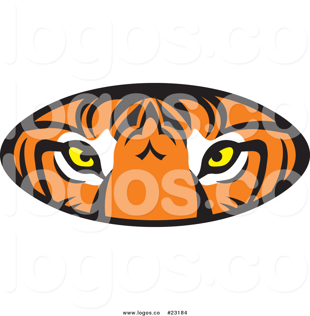 1024x1044 Vector Logo Of A Tiger Eyes Oval By Johnny Sajem