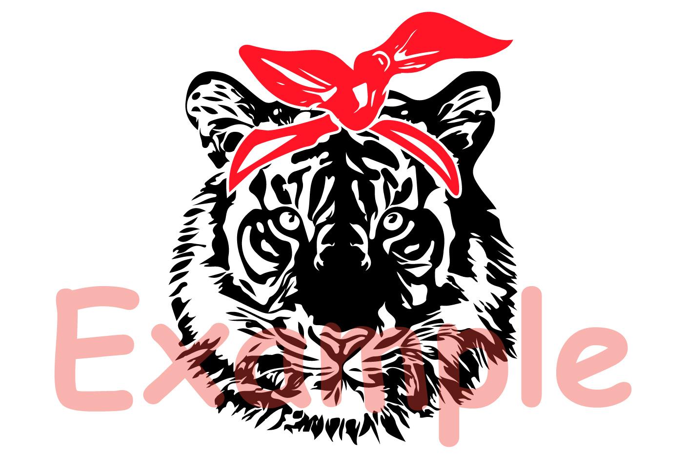 1406x936 Tiger Bandana Svg Tiger Svg Tiger Face Vector Art 919s
