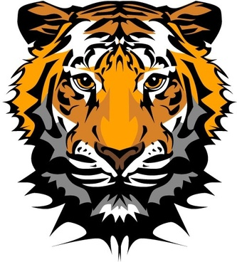 333x368 Tiger Face Vector Free Vector Download (2,101 Free Vector) For
