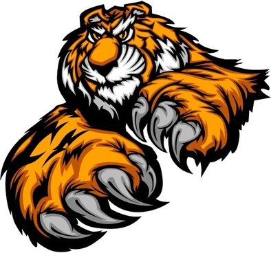 394x368 Tiger Face Vector Graphics Svg Free Vector Download (86,111 Free