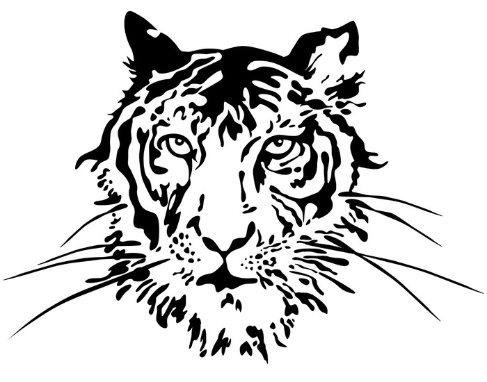 700x550 Tiger Face. Vector Wall Decal We Live To Change
