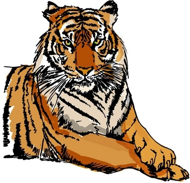 382x368 Tiger Head Free Vector Download (1,821 Free Vector) For Commercial