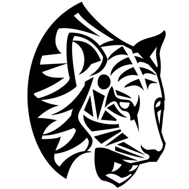 626x626 Tribal Tiger Face Vector Illustration Vector Free Download