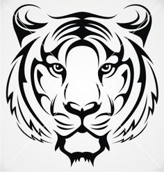 236x248 Line Drawing Of Tiger Face Gift Ideas Tiger Face