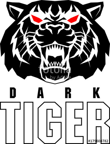 383x500 Vector Angry Tiger Face Logo Label Stock Image And Royalty Free