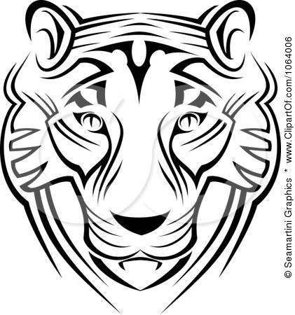 421x450 Clipart Tribal Tiger Face