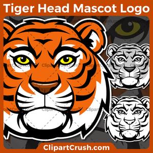 300x300 Nice Cartoon Tiger Head Clipart